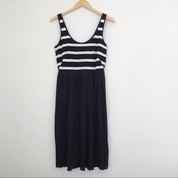 f27204ee37d J. Crew Dresses   Skirts - J.Crew Pleated Knit Dress in Stripe